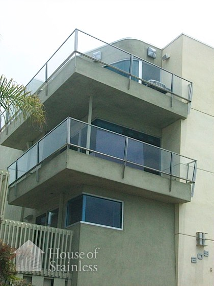 Stainless and Glass Balcony Wall Photo