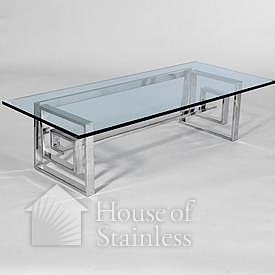 Stainless Steel and Glass Coffee Table Photo