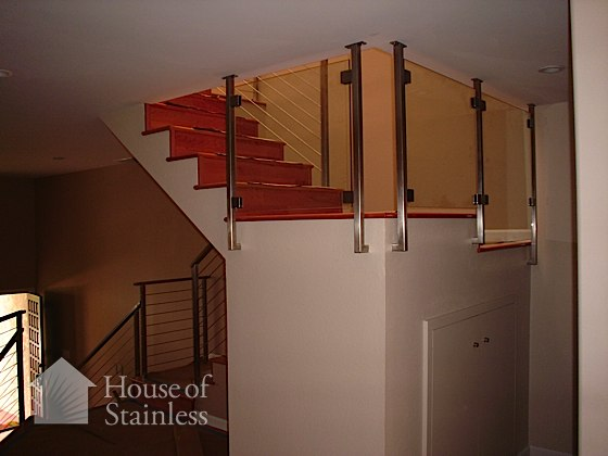 Stainless and Glass Landing Protector Photo